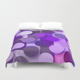 squares & dots violet Duvet Cover