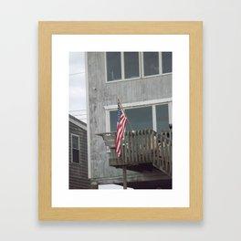 Porch Flag Framed Art Print