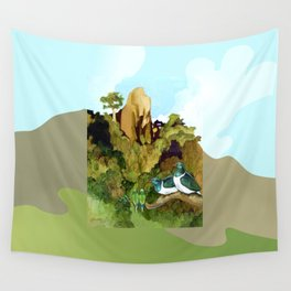 Love Under The Mountain Wall Tapestry