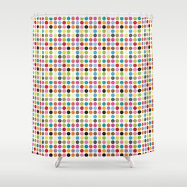 color pattern 6 Shower Curtain