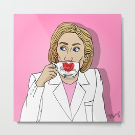 Hillary, By Popular Demand Metal Print