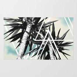 Cali Summer Vibes Palm Trees Geometric Triangles #1 #tropical #decor #art #society6 Rug
