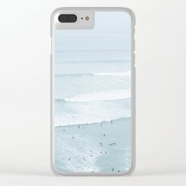 Tiny Surfers from the Sky, Lima, Peru Clear iPhone Case