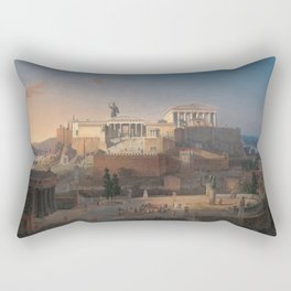 Leo von Klenze - Reconstruction of the Acropolis and Areopagus in Athens Rectangular Pillow