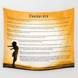 Desiderata - Motivational Poem Art - Child Of The Universe Wall Tapestry