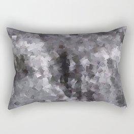 Black and White Waterfall Rectangular Pillow