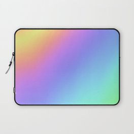 Holographic Foil Multi Colored Pattern Colorful Gradient Abstract Rainbow Laptop Sleeve
