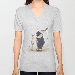 Winter gift for Bear Unisex V-Neck
