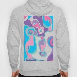 pink purple blue jordan eismont drawing drool rework digital collage Hoody