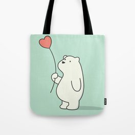 Kawaii Cute Polar Bear Tote Bag