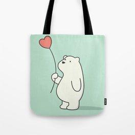 Kawaii Cute Polar Bear Tote Bag