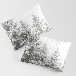 Snowy Pine Trees Pillow Sham