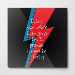 David Bowie Lightning Bolt Metal Print