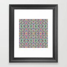 colorful black mosaic Framed Art Print