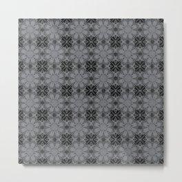 Sharkskin Floral Geometric Metal Print