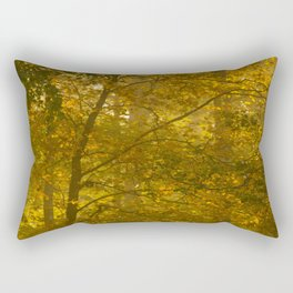 Forest in Fall Color Autumn Scene #decor #society6 #buyart Rectangular Pillow