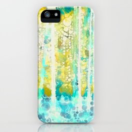 Sherwood Pines Abstract Art iPhone Case