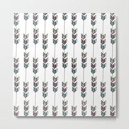 Chevron Arrow Patterns Metal Print