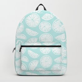 Citrus Wheels - Blue and White Backpack
