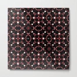 Futuristic Dark Pattern Metal Print