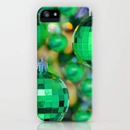 Green Christmas decoration balls iPhone Case