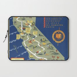 CALIFORNIA University map MAP Berkeley Laptop Sleeve