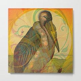 Cute Pelican Metal Print
