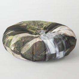 waterfall in NH Floor Pillow