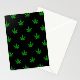 weed leaf print pattern Stationery Cards