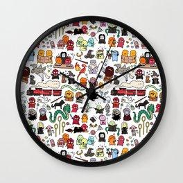 Kawaii Harry Potter Doodle Wall Clock