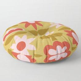 Folksy Floral Pattern No. 1 Floor Pillow