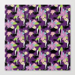 Spring Skunks Canvas Print