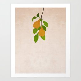 Branch of pear Art Print
