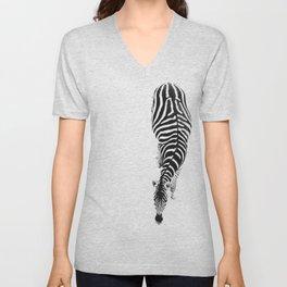 Zebra Unisex V-Neck