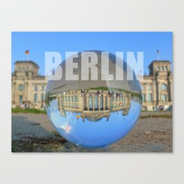 BERLIN Reichstag / Glass Ball Photography Canvas Print