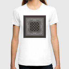 Paisley - Bandana - Black -  Southwestern T-shirt