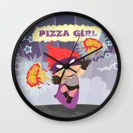 Pizzagirl Wall Clock