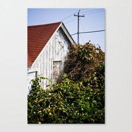 Orange Barn Canvas Print