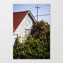 Orange Barn Canvas Print