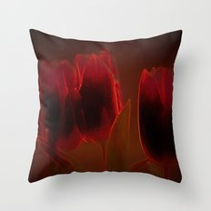 Rote Tulpen Throw Pillow