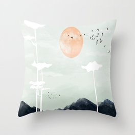 all the way back to the nest Throw Pillow