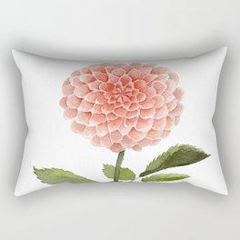Watercolor pink dahlia flower Rectangular Pillow