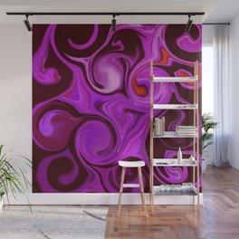 Purple Haze #Abstract #DigitalArt #1970s Wall Mural