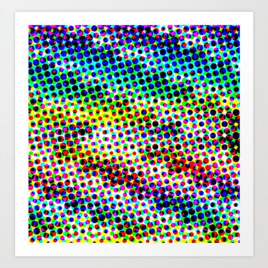 Halftone Color Chart Art Print