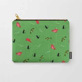 Green Orca and Red Shark and Black Cats Carry-All Pouch