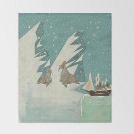 the voyage Throw Blanket