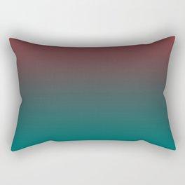 Ombre Quetzal Green Dark Red Pear Gradient Pattern Rectangular Pillow