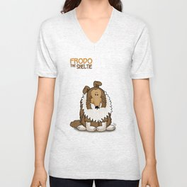 Frod0 the Sheltie: Frod0 (special edition) Unisex V-Neck