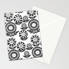 Circular Flower Stationery Cards