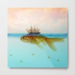 Goldfish Tall Ship Metal Print